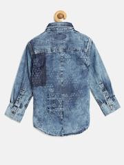 GJ Unltd Jeans by Gini and Jony Boys Blue Washed Shirt