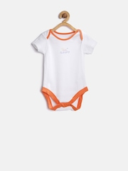 mothercare Kids Pack of 5 White Bodysuits