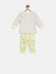 mothercare Kids Off-White & Cream-Coloured Printed Night Suit