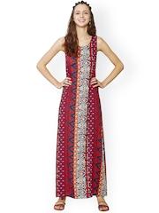 Global Desi Multicoloured Printed Maxi Dress