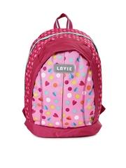 Lavie Girls Pink Printed Backpack