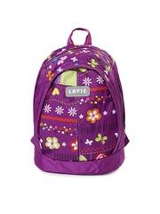 Lavie Girls Purple Printed Backpack