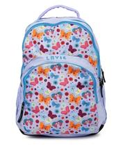 Lavie Women Purple Printed Backpack Lavie Backpacks