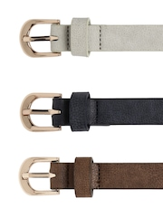 Lavie Women Set of 3 Assorted Leather Belts
