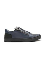 Antony Morato Men Navy Textured Sneakers