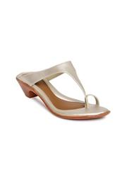 Bata Women Muted Gold-Toned Heels