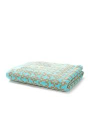 Trident Turquoise Blue Patterned 500 GSM Cotton Bath Towel
