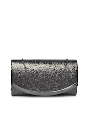 DressBerry Black Shimmery Clutch