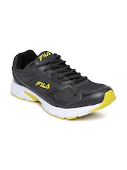 FILA Men Charcoal Grey Lite Runner Plus 3 Running Shoes