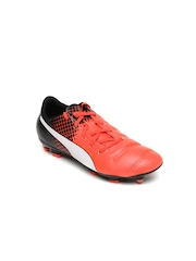PUMA Boys Orange & Black Evopower 4.3 Colourblocked Football Shoes