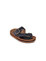 Beanz Boys Navy Leather & Suede Sandals