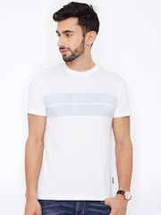 Lee Men White Printed T-Shirt