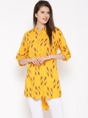 AKKRITI BY PANTALOONS Yellow Printed Tunic