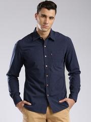 Levis Men Navy Slim Fit Casual Shirt