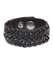 Roadster Brown Braided Leather Bracelet