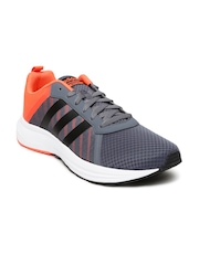 Adidas NEO Men Grey & Orange Cloudfoam Mercury Sneakers