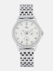 DressBerry Women Silver-Toned Analogue Watch MFB-PN-WTH-S5749-01
