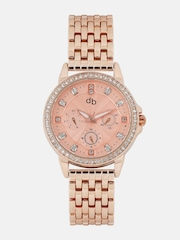 DressBerry Women Rose Gold-Toned Analogue Watch MFB-PN-WTH-S5749-02