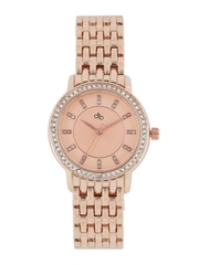 DressBerry Women Rose Gold-Toned Analogue Watch MFB-PN-WTH-S5642-02
