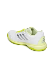 Adidas Women White Adizero Attack Tennis Shoes