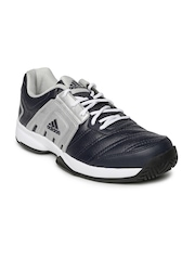 Adidas Men Navy & Silver-Toned Baseliner Running Shoes