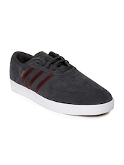 Adidas Originals Men Charcoal Grey Silas Vulc Suede Sneakers