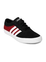 Adidas Originals Men Black & Red Sellwood Colourblocked Skate shoes