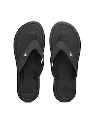 Adidas Men Charcoal Grey & Black STABILE Flip-Flops