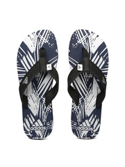 Adidas Men Black & Navy INERT Printed Flip-Flops