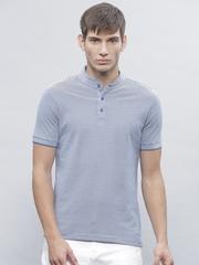 ether Men Blue Striped T-Shirt