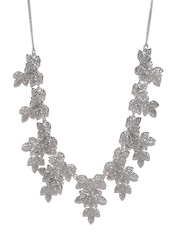 Accessorize Silver-Toned Textured Princess Necklace