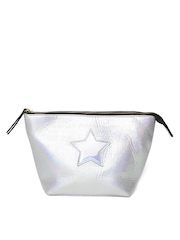 Accessorize Women Silver-Toned Pouch with Iridescent Effect