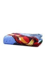 SPACES Marvel Blue Avengers Print Cotton 350 GSM Bath Towel