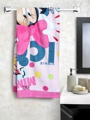 SPACES Disney Pink Minnie Mouse Cotton 350 GSM Bath Towel
