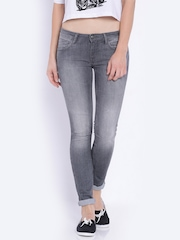 Wrangler Grey Washed Jegging Fit Jeans