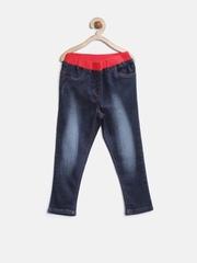 StyleStone Girls Navy Washed Jeans