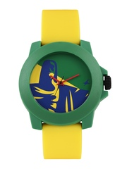 Fastrack Tees Unisex Blue & Green Printed Dial Watch 38021PP13J