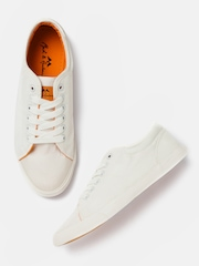 Mast & Harbour Men White Solid Sneakers