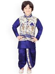 Jeetethnics Boys Pack of 4 Silk Clothing Set