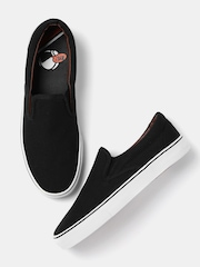 Kook N Keech Men Black Slip-Ons