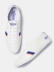 Roadster Men White Perforated Sneakers