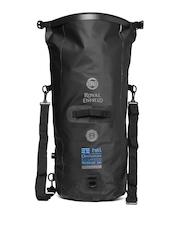 Royal Enfield Unisex Black Hill Octopuss Waterproof Travel Bag