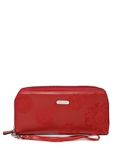 Lavie Women Red Embroidered Wallet