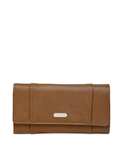 Lavie Women Brown Textured Wallet