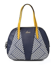 Lavie Navy Printed Shoulder Bag