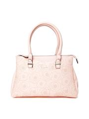 Lavie Peach-Coloured Floral Print Handbag