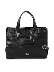 Lavie Black Textured Handbag