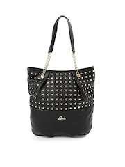 Lavie Black Shoulder Bag with Metallic Studs