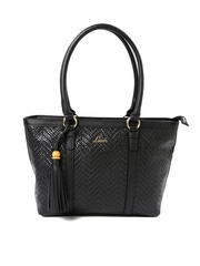 Lavie Black Woven Shoulder Bag