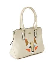 Lavie Cream-Coloured Printed Shoulder Bag